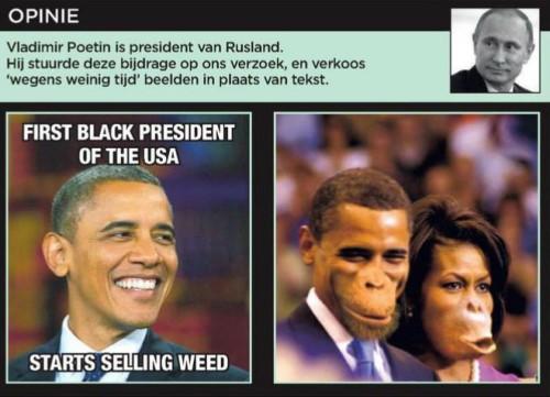 racist obama pic