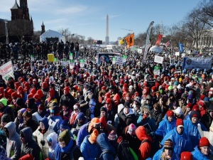 Pro-life activists protest in the Nation's Capital- DC