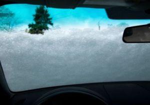 Snow on Car Window
