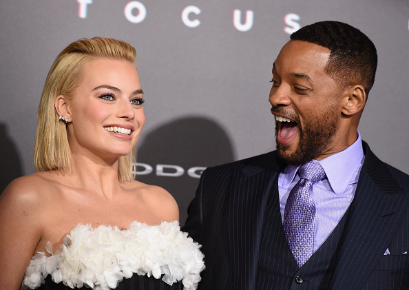 """Will Smith & Jada Look Fabulous at """"Focus"""" Movie Premiere [PHOTOS]"""