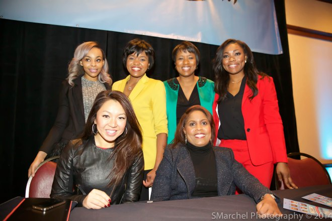 2014 EmpowerOne Luncheon with Danita Harris from NewsChannel5, Melissa Reid from FOX 8, Danielle Wiggins from WKYC Channel 3, Shanice Dunning from 19 Action News, 93.1 WZAK's Kym Sellers, And Z1079's Paigion