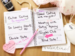 Lonely hearts diary open.
