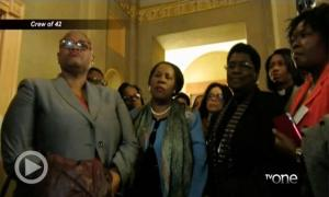 Black Woman Protest Republican Stalling Loretta Lynch Confirmation Vote