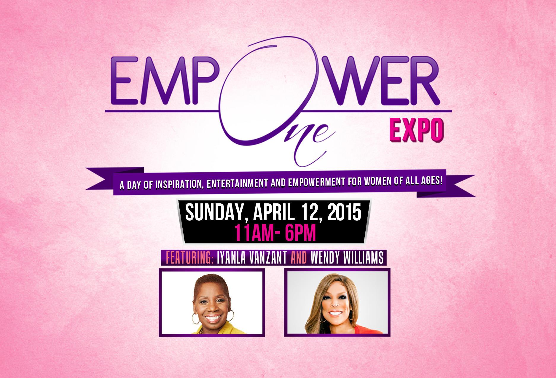 empower one back logo flyer