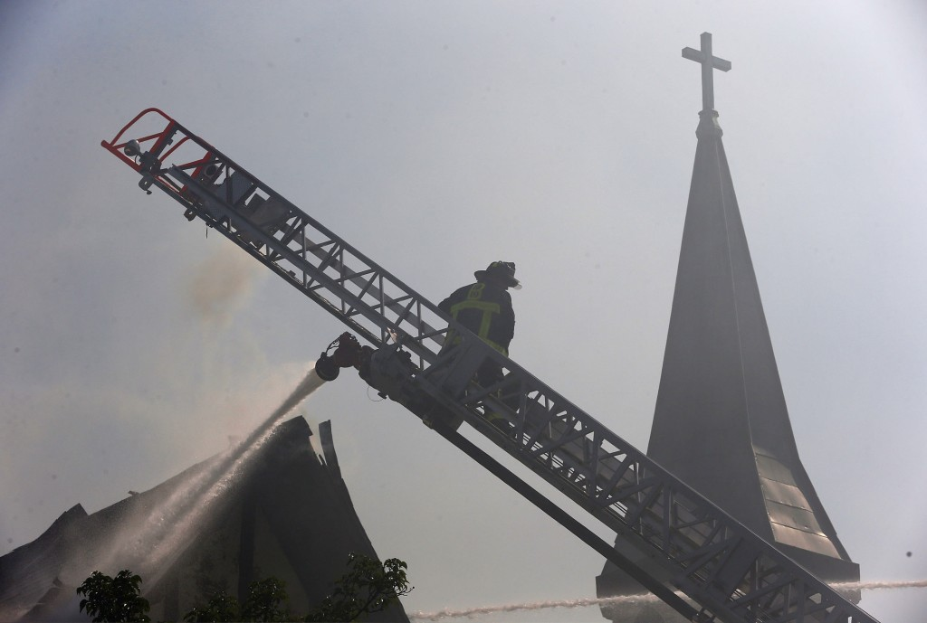 Church fire