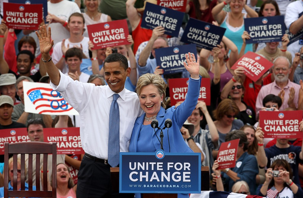 Sen. Obama And Sen. Clinton In Unity, NH