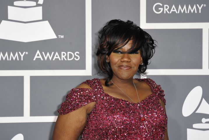 Kelly Price arrives at the Staples Cent
