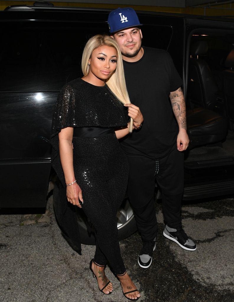 Blac Chyna & Rob Kardashian Visit Onyx Nightclub