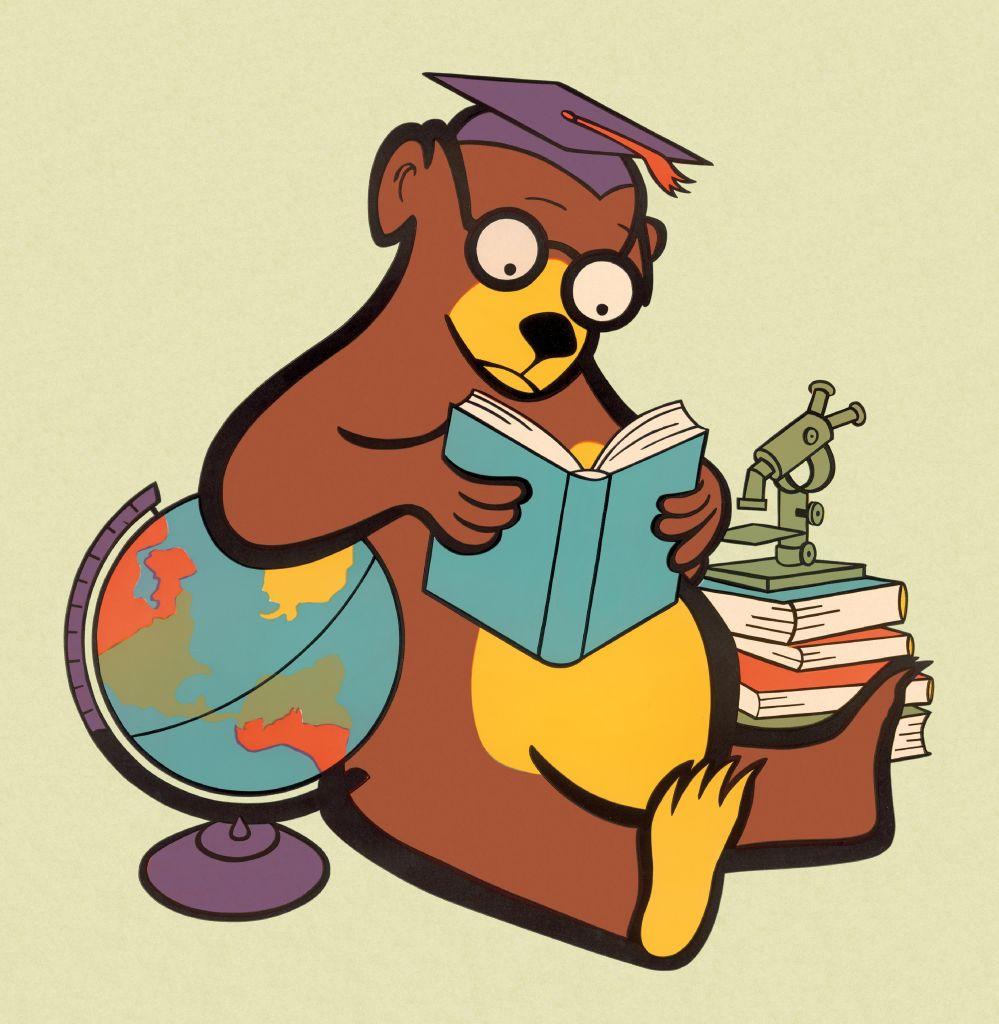 Scholarly Bear Reading