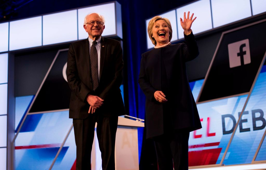 Former Secretary of State Hillary Clinton and Senator Bernie Sanders