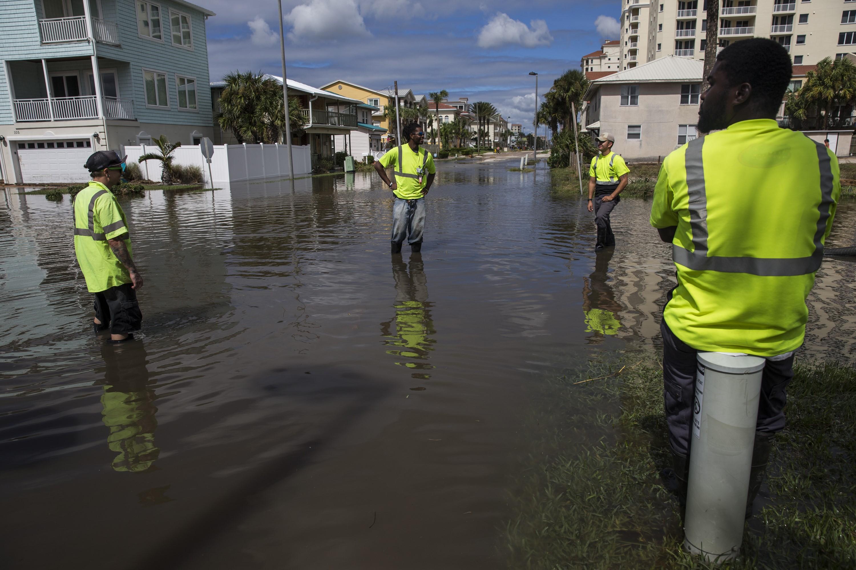 Aftermath of Hurricane Matthew in Florida