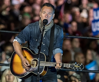 the Hillary Clinton \'Get Out The Vote\' rally with Bruce Springsteen and Jon Bon Jovi