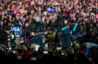 Hillary Clinton Holds Get Out The Vote Rally With Bruce Springsteen and Jon Bon Jovi