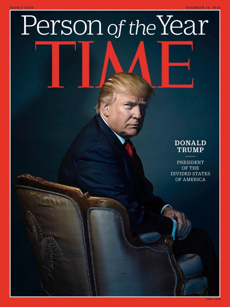 Time Magazine cover - Trump with Horns