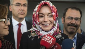 American actress Lindsay Lohan in Gaziantep