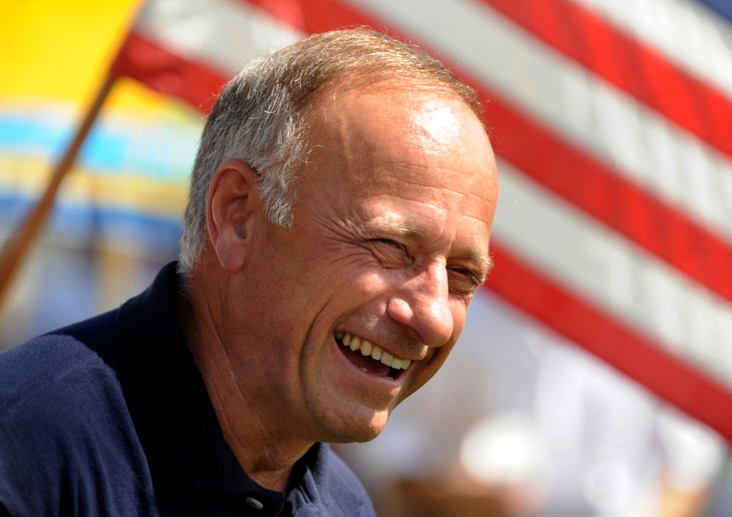 Congressman Steve King (R- Iowa) spoke to a group of more than 100 people in Loveland, Colorado Saturday afternoon, June 19, 2010. The gathering was organized by Nancy Rumfelt and her newly established group called the 9-12 Project Liberty Circle. Karl Ge