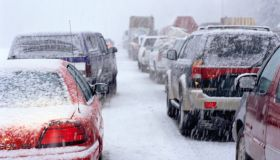 Traffic Jam in a Snowstorm