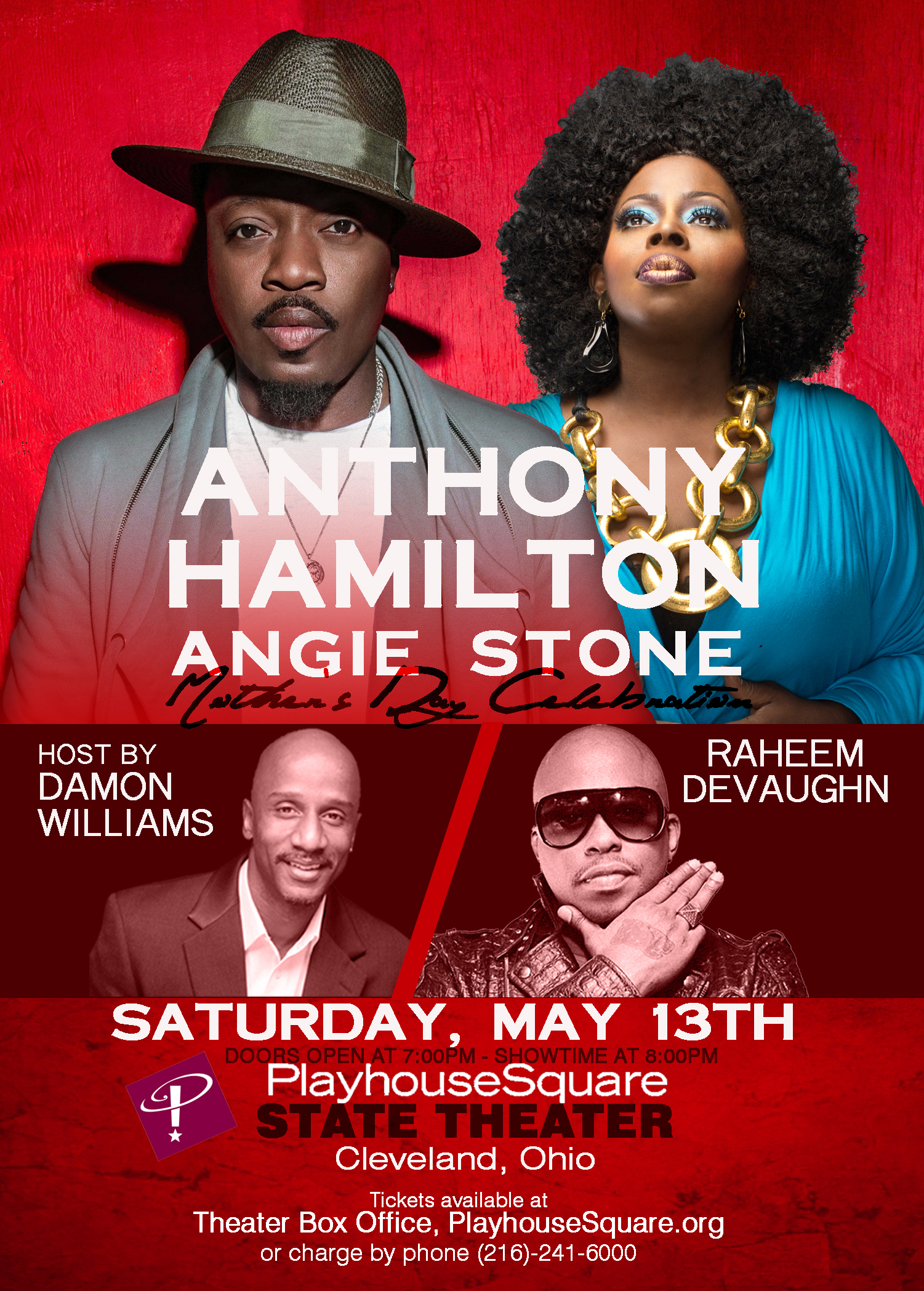 Anthony Hamilton and Angie Stone Mothers Day Celebration