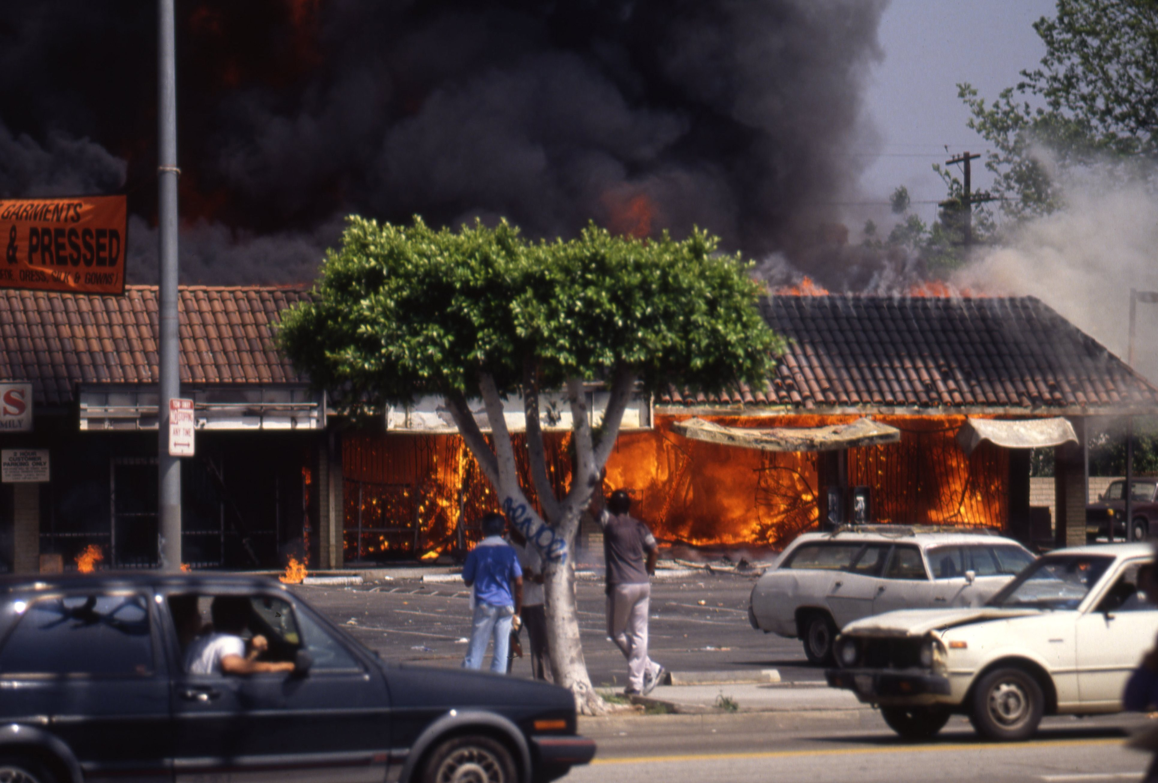LA Riots in Reaction to the Rodney King Verdict