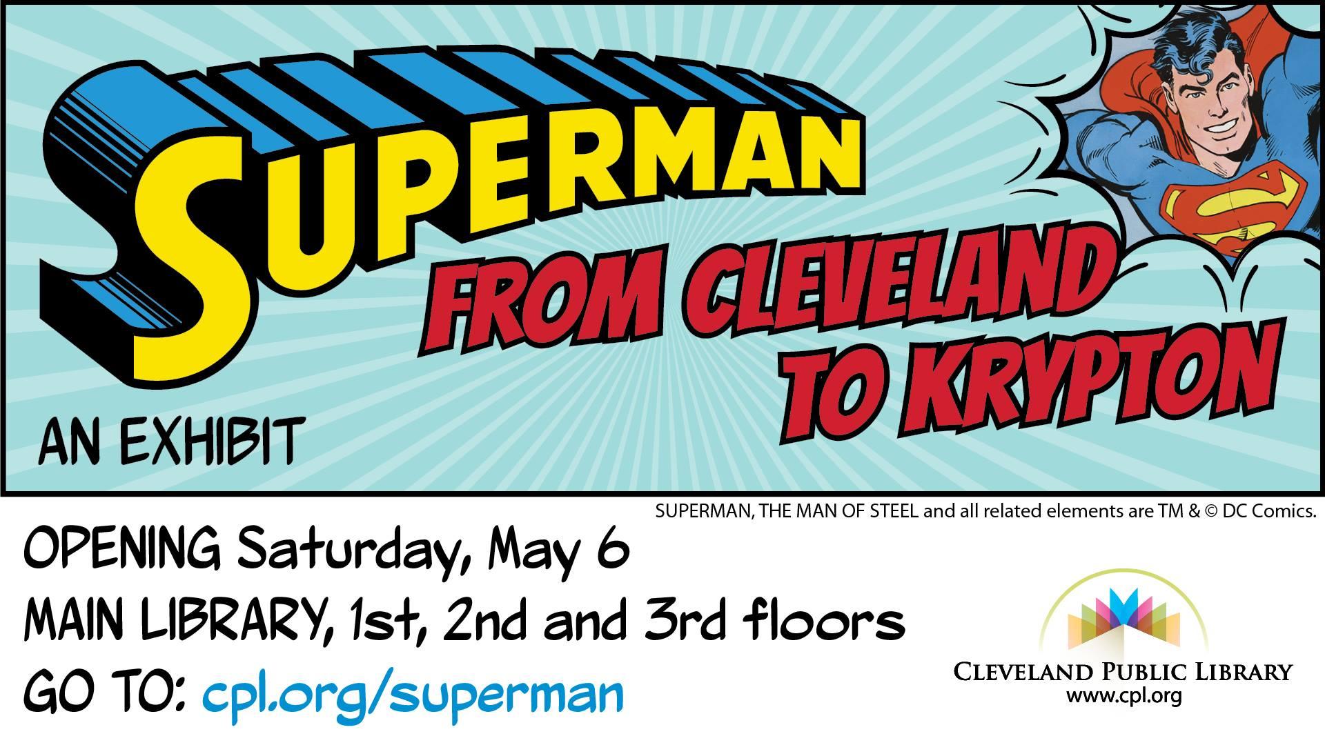 Superman Cleveland Public Library