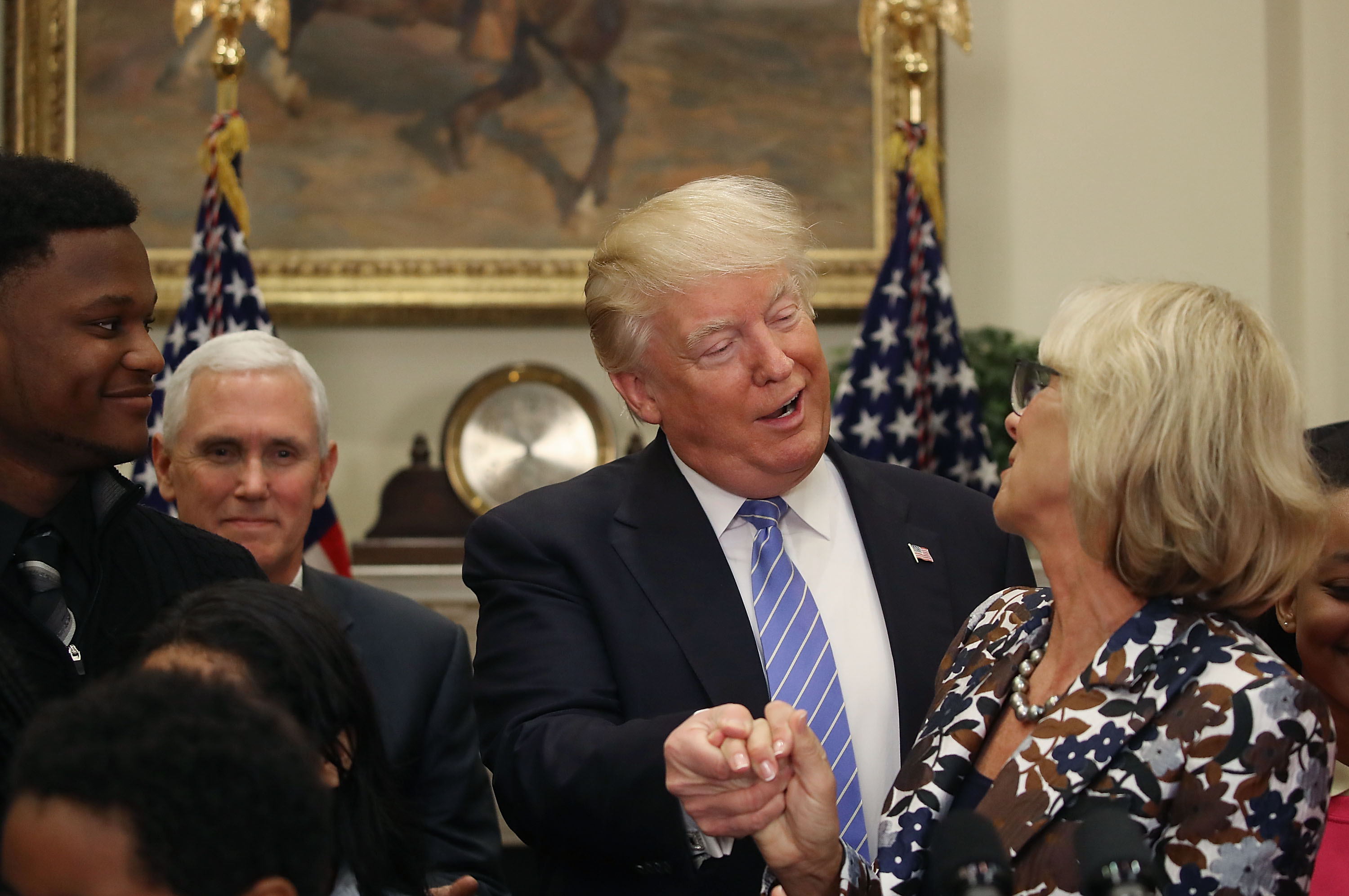 Trump And Pence Join Betsy DeVos At School Choice Event At White House