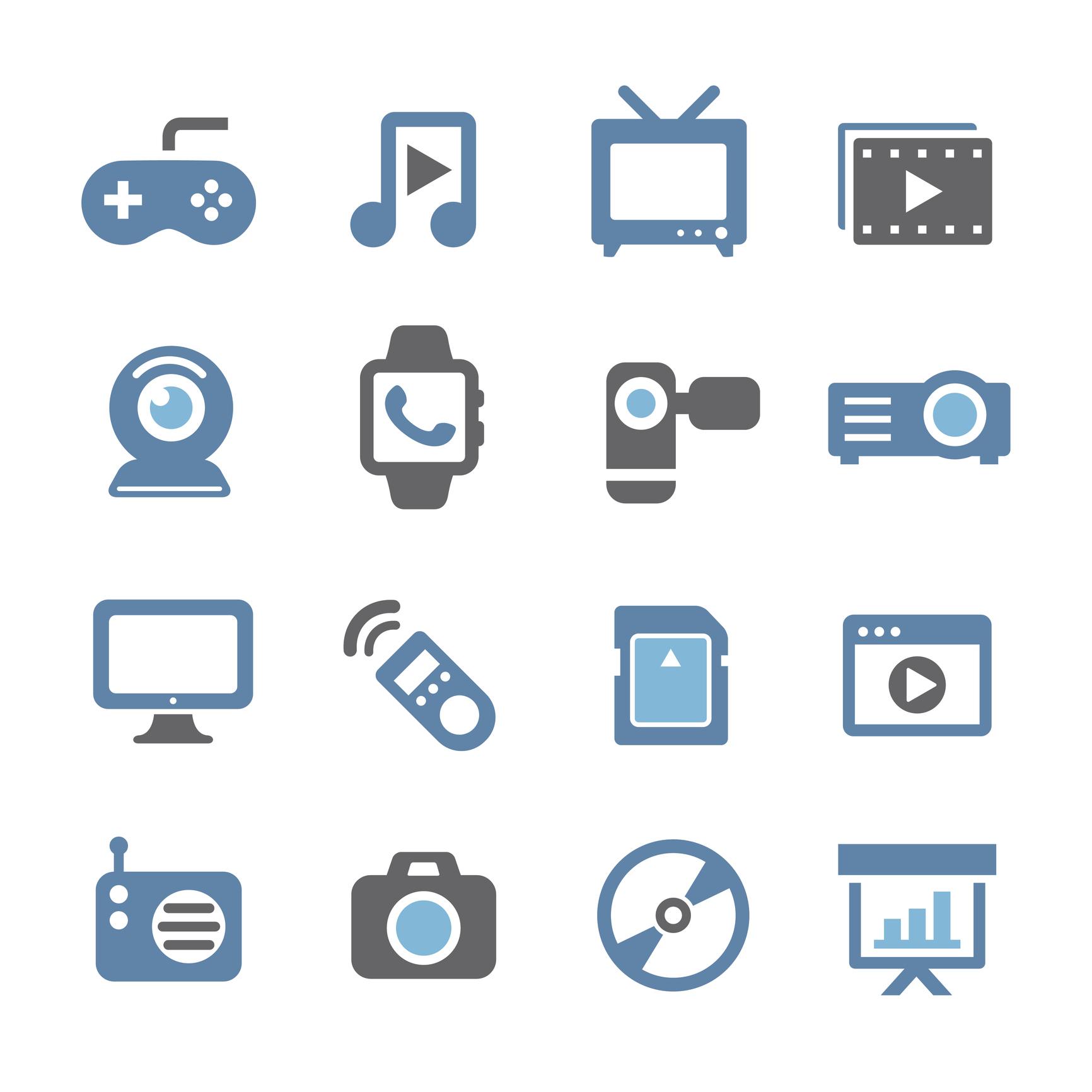 Multimedia Icons - Conc Series