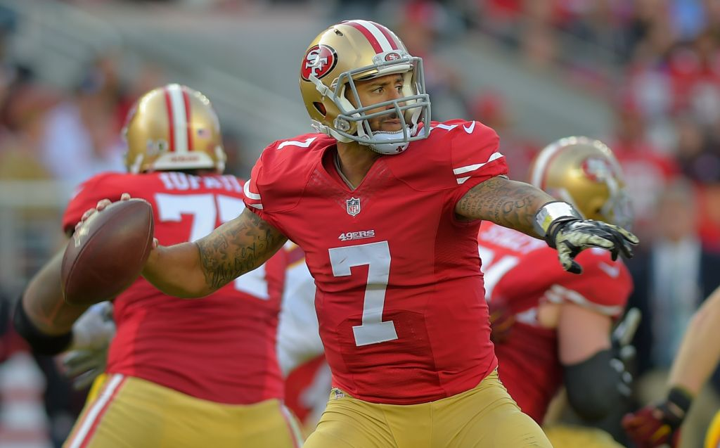 the San Francisco 49ers play the Washington Redskins