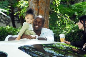 TYRESE GIBSON AND DAUGHTER IN LA