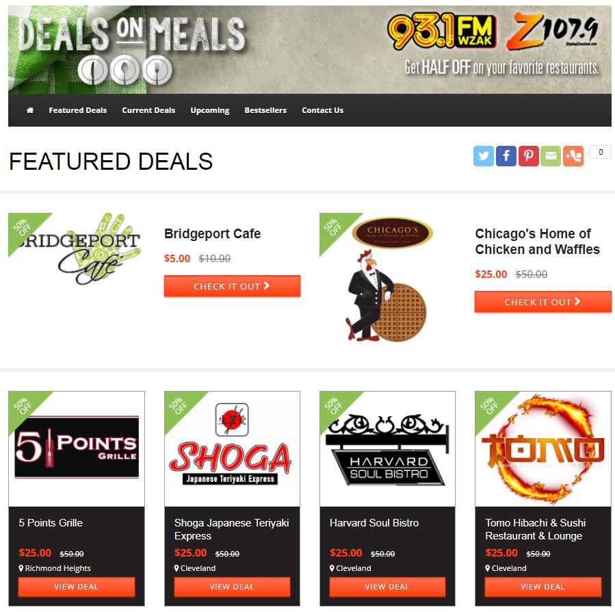 Updated Deals on Meals Screenshot