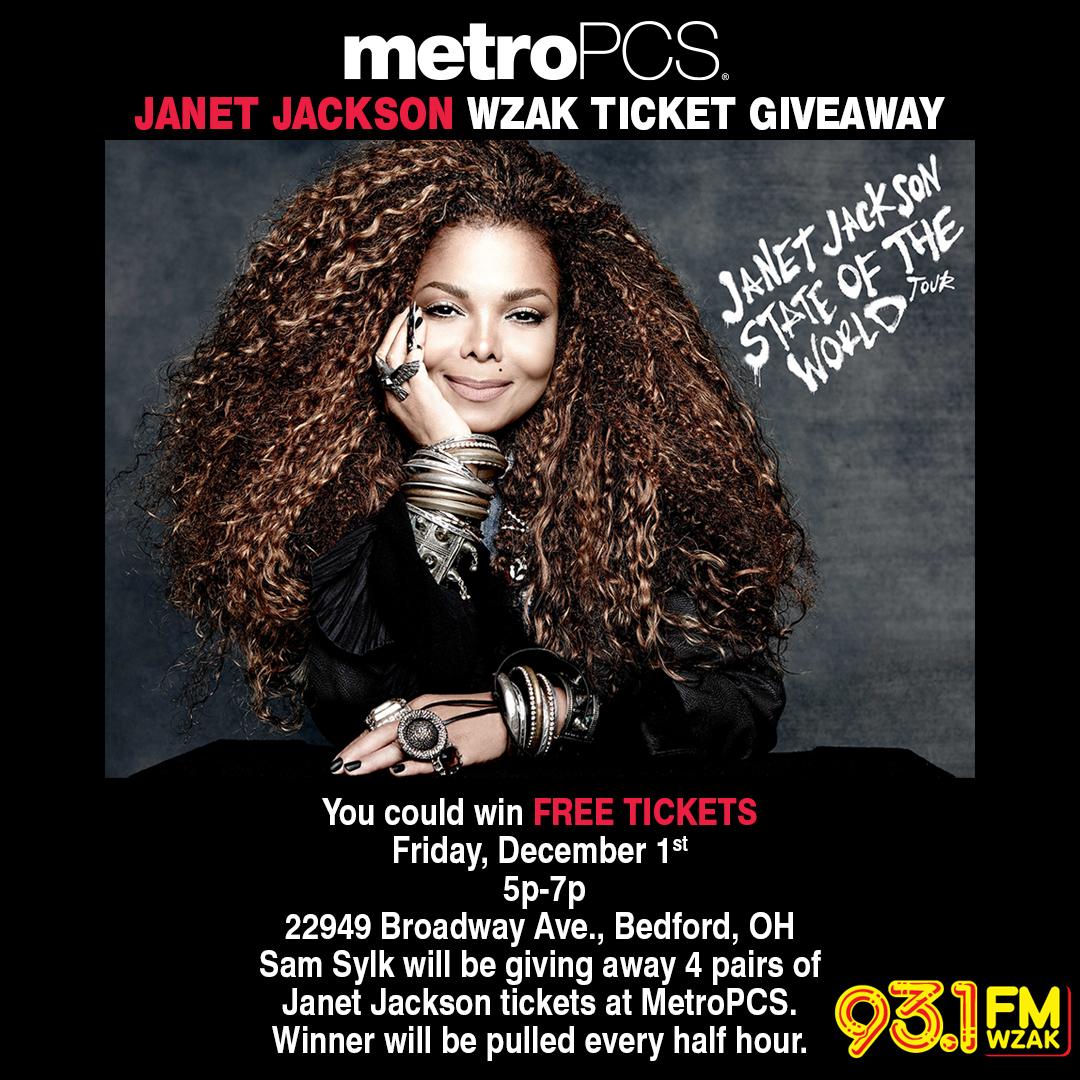 Metropcs Janet Jackson Ticket Giveaway