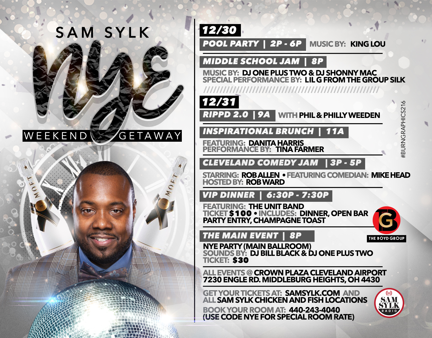 Sam Sylk NYE 2018 Weekend Getaway