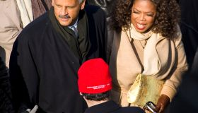 USA - Presidential Inauguration - Oprah Winfrey and Stedman Graham at Inauguration