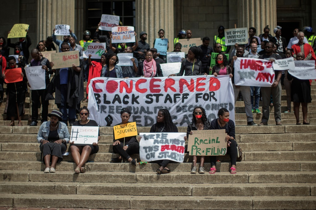 SAFRICA-EDUCATION-UNIVERSITY-PROTEST