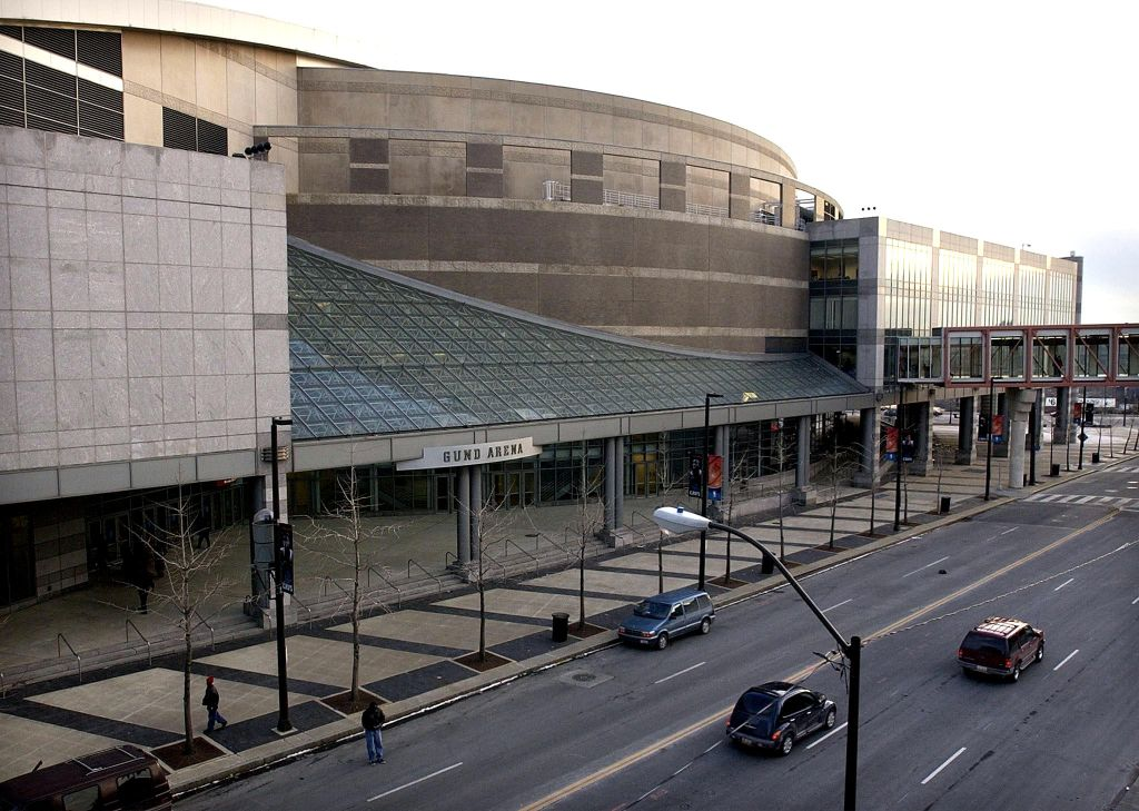 This 06 February, 2002 photo shows an exterior vie
