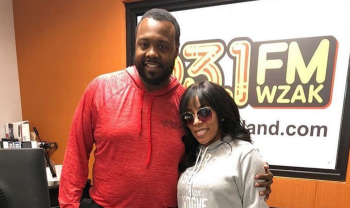 K. Michelle in wzak studio