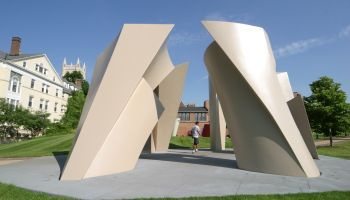 A sculpture at the Case Western Reserve University.