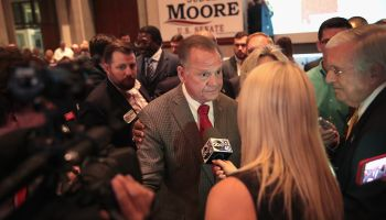 Alabama GOP Senate Candidate Roy Moore Holds Election Night Gathering In Special Election For Session's Seat
