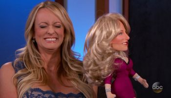 Stormy Daniels during an appearance on ABC's Jimmy Kimmel Live!'