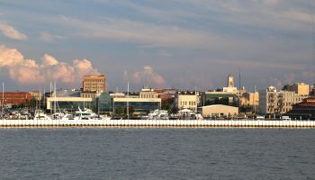 Sandusky city skyline from Lake Erie