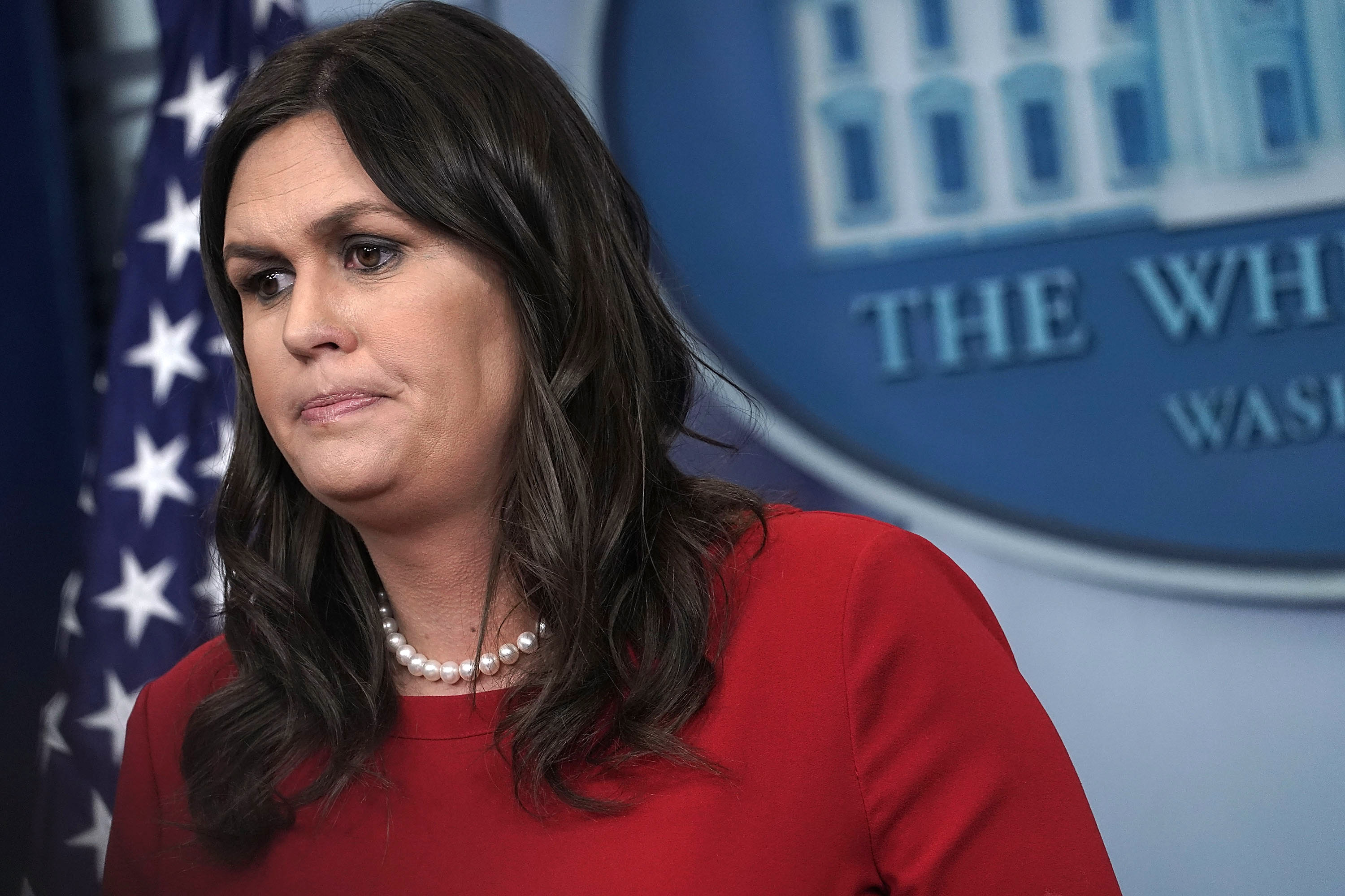 Press Secretary Sarah Huckabee Sanders Holds Daily Briefing At The White House