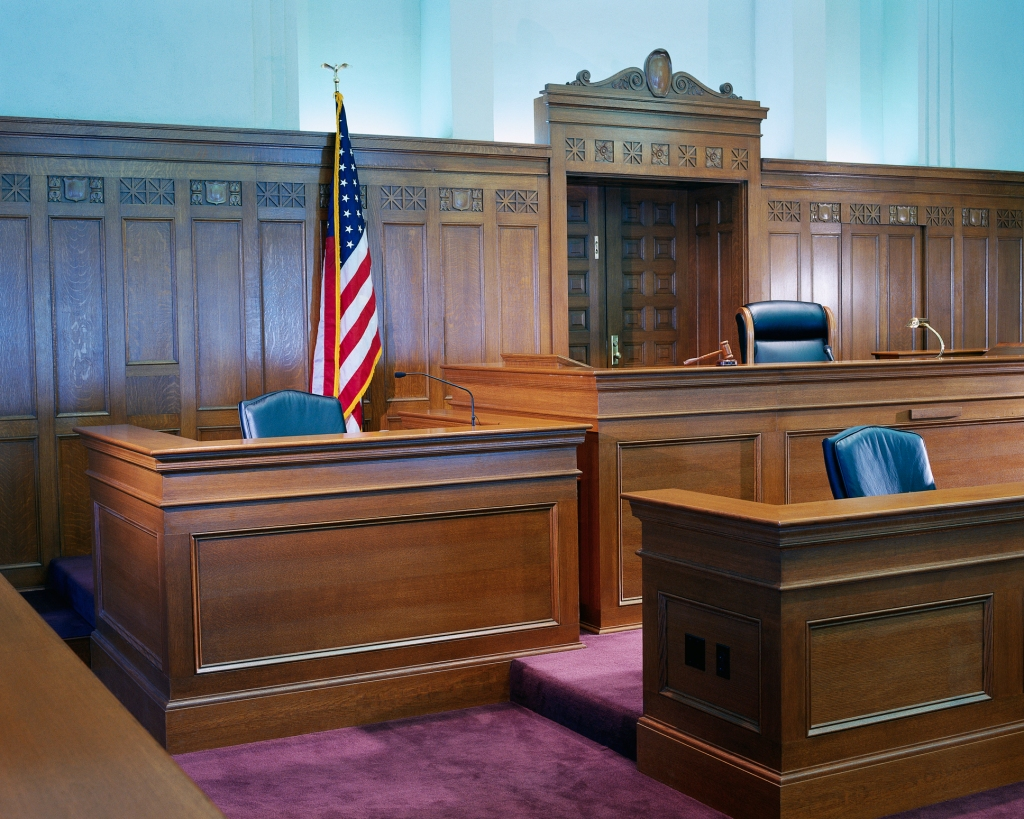 Witness Stand and Judge's Bench