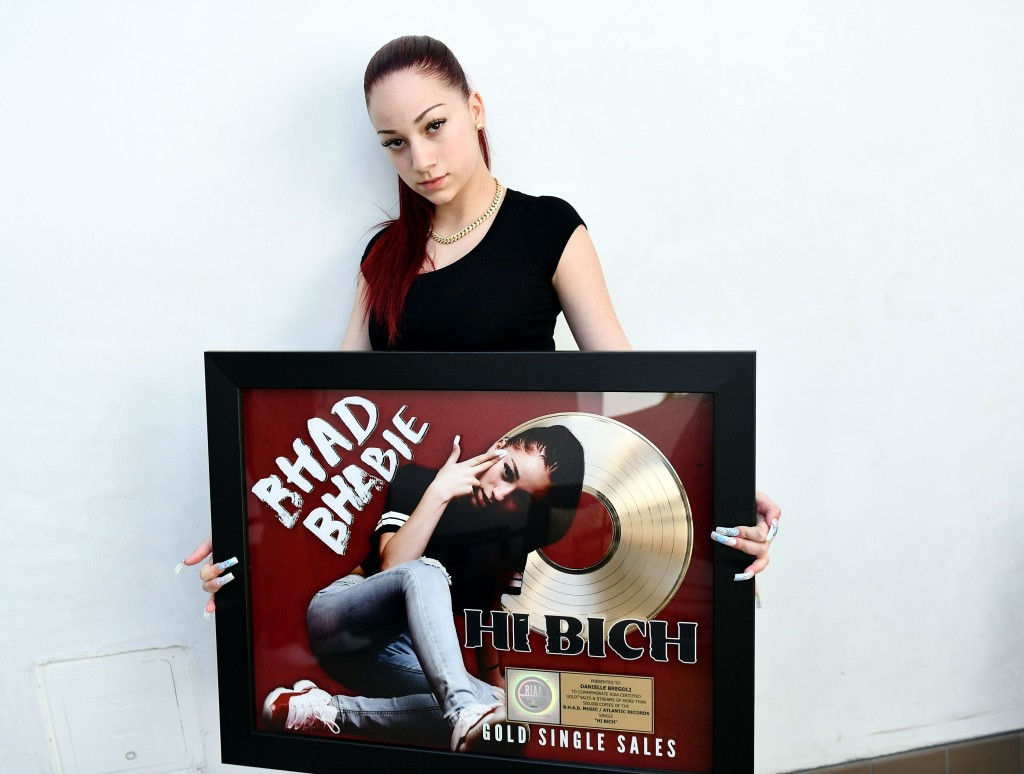 Bhad Bhabie Receives Gold Record For Her Song 'Hi Bich'