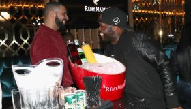 Lebron James Hosts Dwyane Wade's Birthday With The House Of Remy Martin At Drake's New Pick 6 Restaurant