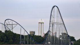 Thrill Rides in the Amusement Park, Cedar Point Amusement Park, Sandusky, Ohio, USA