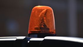 Editorial - Close-up of a Park Ranger Patrol Vehicle with flashing lights