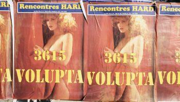 Affiches publicitaires pornographiques pour le Minitel