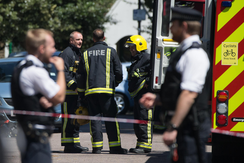 Scene of fire on 12th floor flat in Grafton House, Bow, East London.