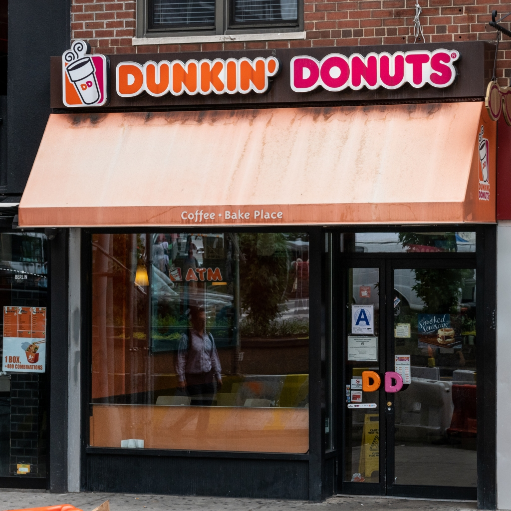 Dunkin' Donuts store in Union Square in New York City...