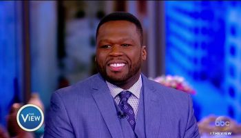 "Curtis ""50 Cent"" Jackson during an appearance on ABC's 'The View.'"