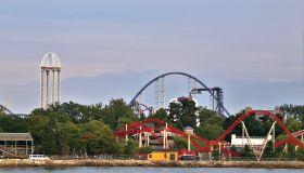 Amusement Park Complex, Cedar Point Amusement Park, Sandusky, Ohio, USA